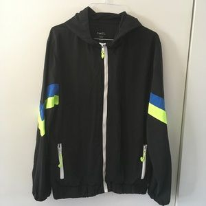 Rue 21 Mens Small Black Windbreaker
